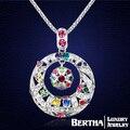 Vintage doble círculo largo collar étnico cristal de Swarovski para mujeres Bijoux Femme mejores amigos de la alta calidad