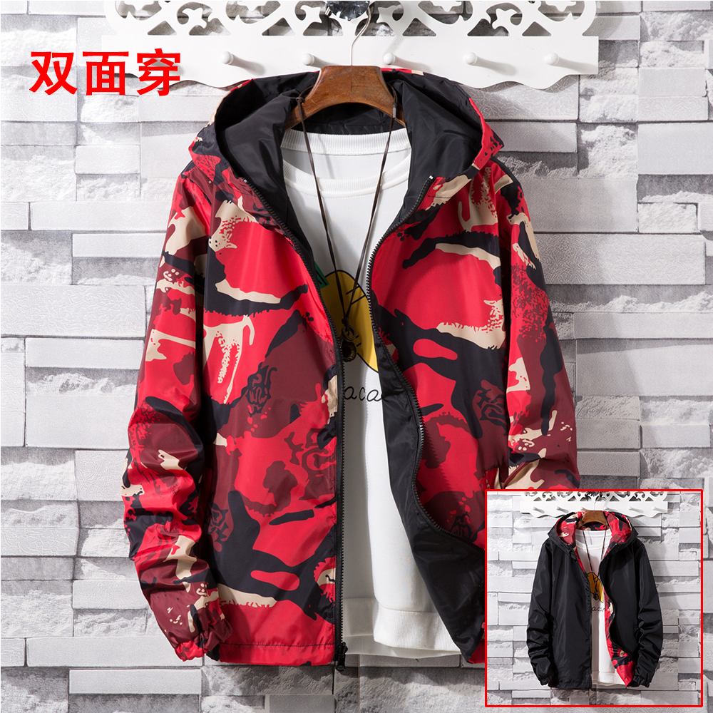 Jacket Men Spring Autumn Men Windbreaker Hooded Jacket Male Casual Print Unisex Mens Coats Bombers Homme Outerwear Fashion