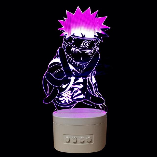 Naruto 3d D Interieur De Lampe Bluetooth Haut Parleur De Musique Usb