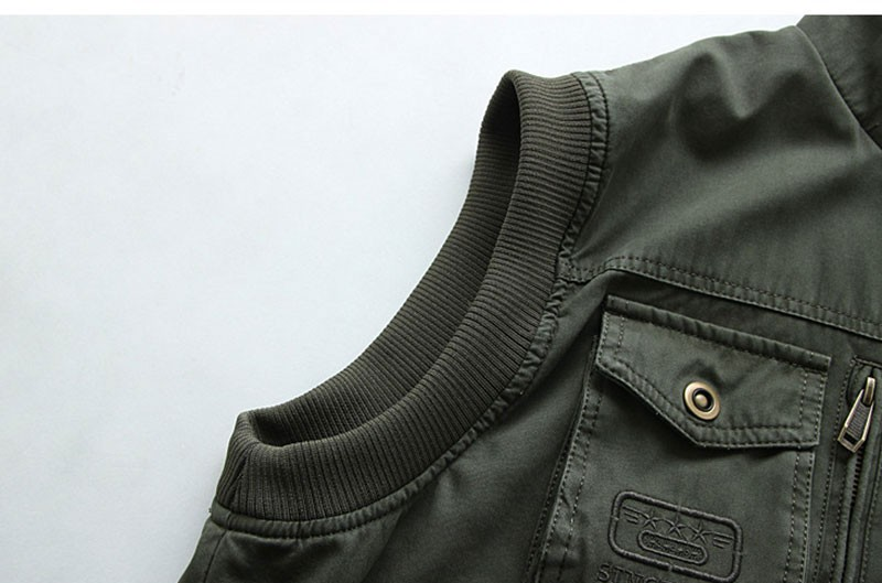 L~7XL 2016 Autumn Spring Brand Clothing Cargo Outdoor Vest Overcoats Men Casual Cotton New Plus Size Sleeveless Jackets Vests (16)