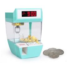 Горячая USB монетница игра граббер Будильник Конфеты машина клип куклы Настольный кран машина кукла конфеты Ловца захватов машина