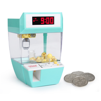 Hot USB Coin Operated Game Grabber Alarm Clock Candy Machine Clip Dolls Desktop Crane Machine Doll Candy Catcher Grabber Machine