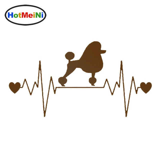 Poodle Heartbeat Dog Decal or poodle.life choose.design and color