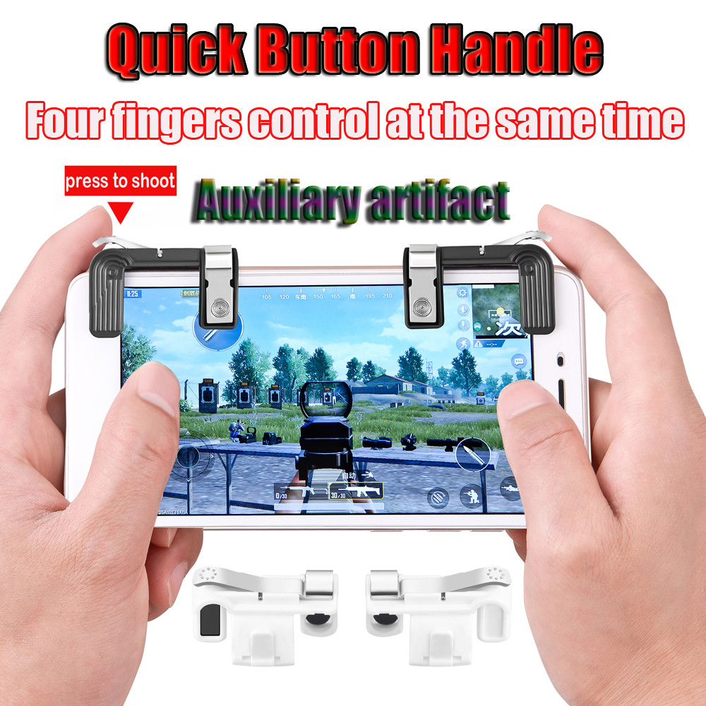 Phone Mobile Gaming Trigger Fire Button Handle for PUBG L1R1 Shooter Controller Cell Phone Adapter Accessories Drop Shipping
