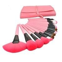 24 Pcs Portable Makeup Brush Sets Makeup Tools Eye Shadow Brush Nose Brush Foundation Brush