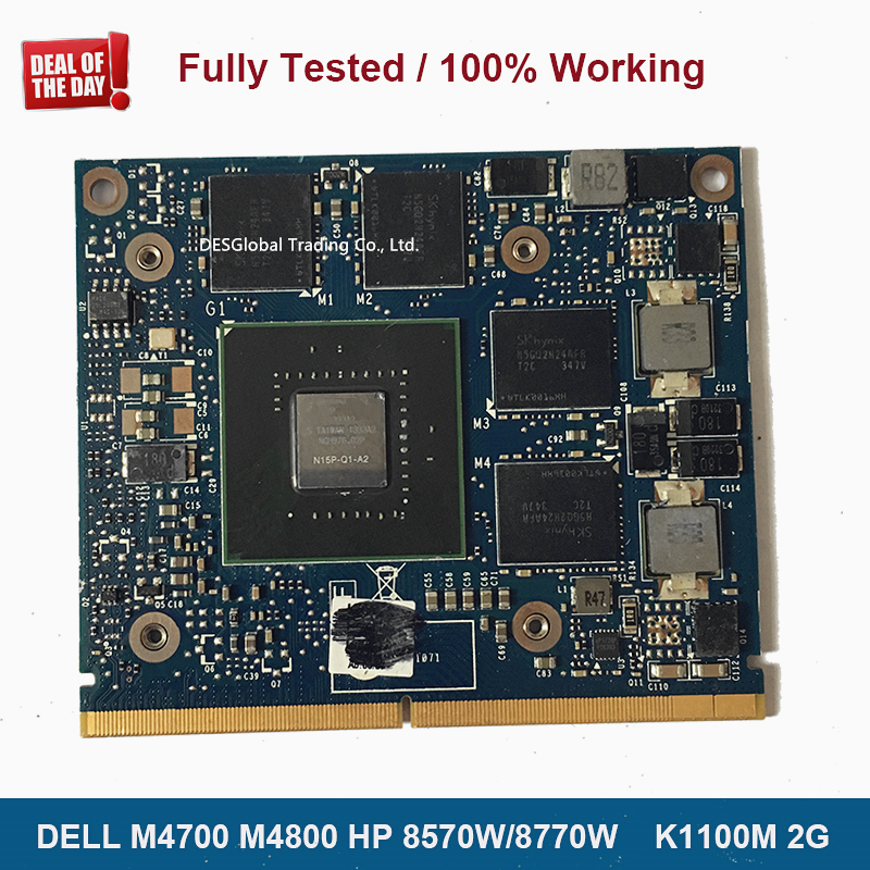 Brand New K1100M 2GB for DELL M4700 M4800 HP ZBOOK 15 8570W 8770W N15P-Q1-A2 Graphics Card Laptop Video Card Fully Tested image