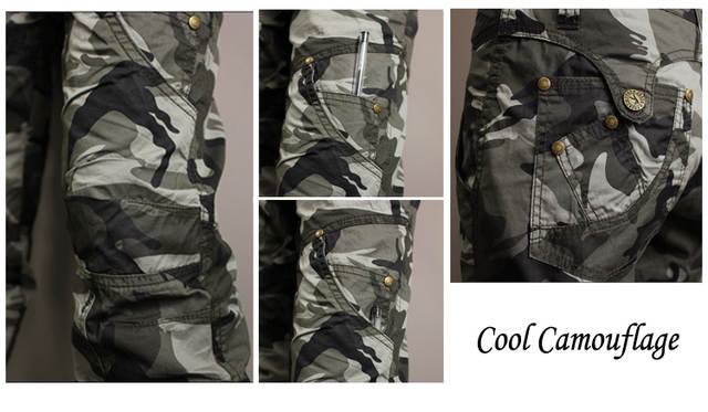 US $37.06 8% OFF|Sportwear jungle climb army fatigue camouflage cargo pants  plus size 6xl denim femme jeans baggy pant for women & man-in Jeans from ...