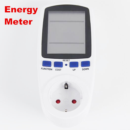 EU Plug Electricity Power Energy Watt Voltage Amps Current Meter Analyzer with Usage Monitor 50% off  цены