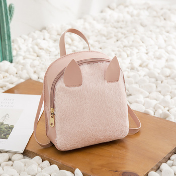 defc65342639 Sweet College Wind Women Mini Shoulder Bag High Quality PU Leather Fashion  Girls Candy Color Small Backpack Female Cute Bags