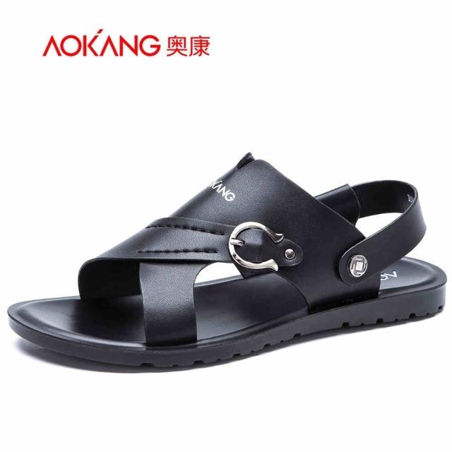 534b23a08888 Aokang 2016 Nouvelles Chaussures D'été De Mode D'été Sandales Style En Cuir