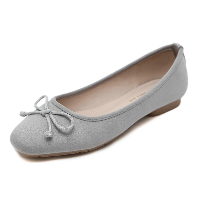 UMMEWALO ผู้หญิงหนังนิ่มหนังแบนรองเท้าผู้หญิง Loafers นุ่มผู้หญิงสบายสแควร์ Toe รองเท้าสบายรองเท้า-ใน รองเท้าส้นเตี้ยสตรี จาก รองเท้า บน   2