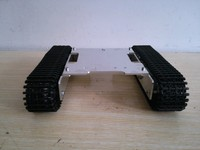 2WD motor driver obstacle surmounting tank car chassis /high torque,metal structure/remote control smart car chassis