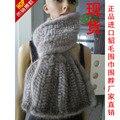 Новое прибытие леди подлинная норки шарф моды роскошь глушитель Все Матч норки верхнего трикотажа долго дизайн глушитель шарф качества
