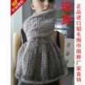 New arrival lady genuine mink fur scarf fashion luxury muffler All-match mink knitted long design muffler scarf quality