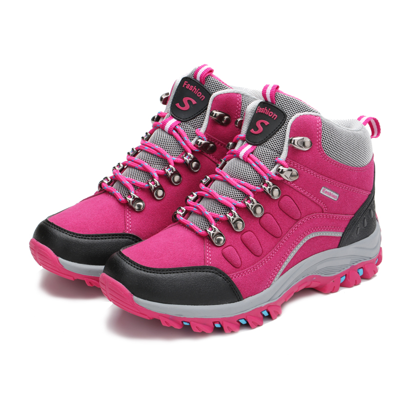Winter High Top Hiking Shoes for Men Women Waterproof Mountain Trekking Shoes zapatillas trekking mujer shoes Warm Snow Boots