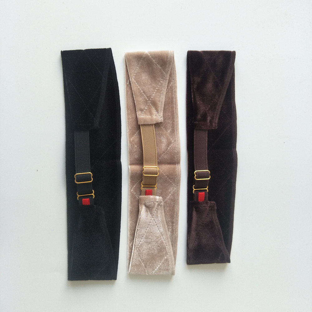 New Arrival Hand Made Wig Grip Band For Holding Your Wig, Hat Or Scarf With  Black, Brown,blond Colors(China)
