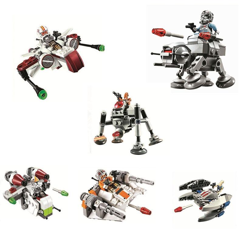 Bela Space Wars Snow Speeder Aircraft Compatible con Giftss Compatible con Legoe bloques de construcción ladrillos juguetes figuras de acción