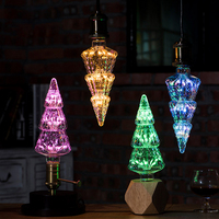 Creative Christmas Tree LED Edison Bulb Lamp E27 220V Screw Color Lights Stars Bar KTV Retro Decorative Light Bulbs Lighting