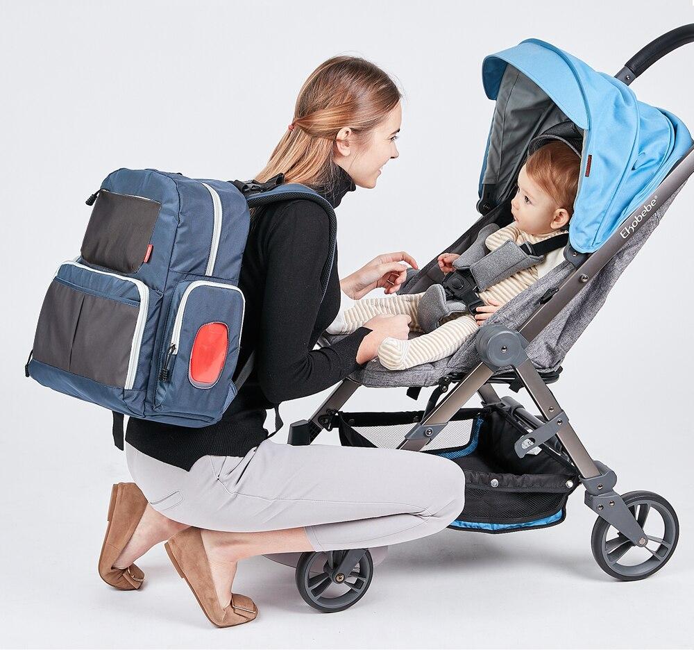 Sac à couches insulaire mode momie maternité Nappy sac marque bébé voyage sac à dos organisateur de couches sac d'allaitement pour bébé poussette