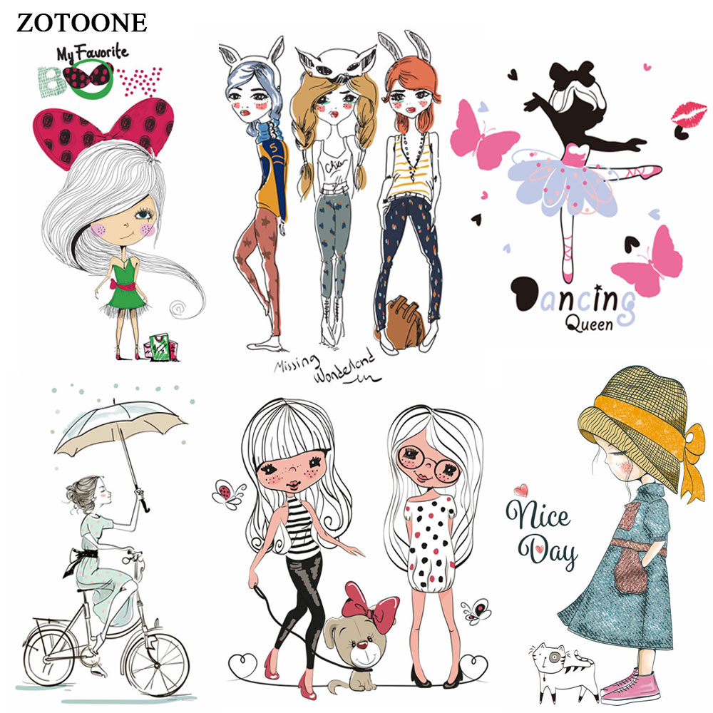 Cutegirl Girly with sequins 10,5 several colors selectable Iron on patches
