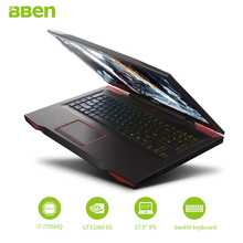 Bben G17 Gaming laptop NVIDIA GTX1060 GDDR5 Computer 17.3″ pro windows10 intel 7th gen. i7-7700HQ  DDR4 8GB/16GB/32GB RAM M.2 SS
