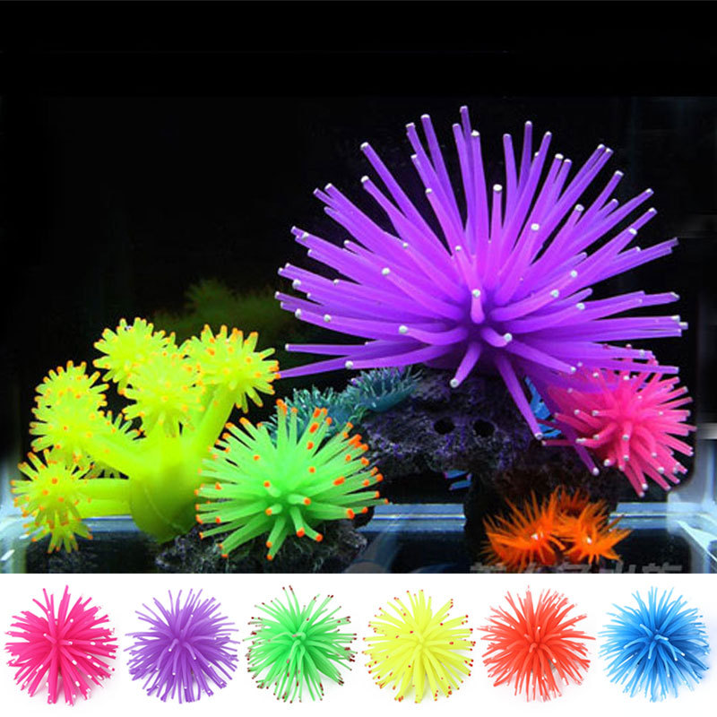 halloweenchristmas aquarium decorations multicolor artificial sea urchin ball fish tank coral ornament decor landscape w1 in aquariums tanks from home - Christmas Fish Tank Decorations
