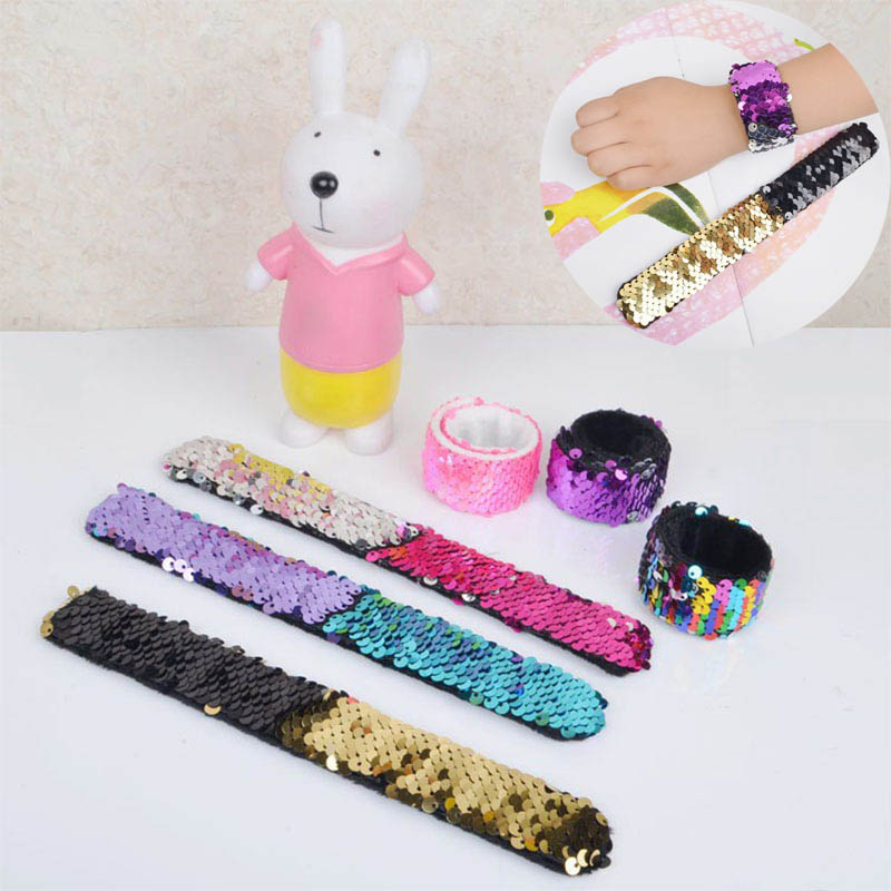 Fashion Mermaid Childrens Toys Sequins Hand Link Day Gift Christmas Best Birthday