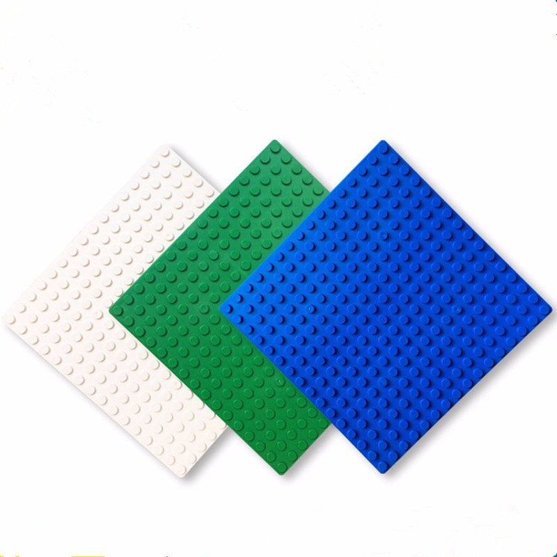 16*16 Dots DIY Small Blocks Base Plate Compatible With L Brand 3 Colors Bulding Bolcks 12.8*12.8cm Brinquedos ...