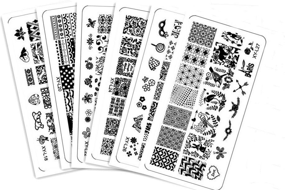 16PCS Lot Different Design Nail Art Stamping Plate Konad Stamp Image DIY Template JT109