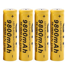 4Pcs 3.7V 18650 9800mah Li-ion Rechargeable Battery For LED Flashlight Torch For Emergency lighting portable Device Free Ship