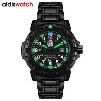 AIDIS Top Brand Men Sports Watches LDE Quartz 50M waterproof diving Swimming student Clock Soldie Outdoor compass Military Watch