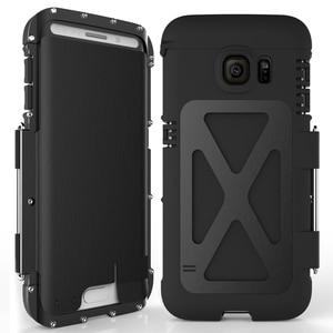 Image 3 - R Nur Eisen Männer Flip Telefon Fall Shock Proof Mode Stahl Metall Rüstung Fall für Samsung S9 S8 Plus s6 S7 Rand Hinweis 9 8 5 4 3 2