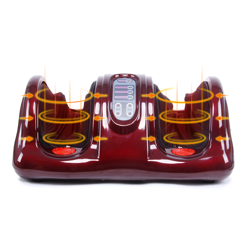 KLASVSA Electric Heating Foot Body Massager Shiatsu Kneading Roller Vibrator Machine Reflexology Calf Leg Pain Relief Relax newly new 5 rows wheel wooden massager wood roller foot massager relax relief