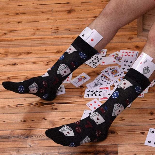 Men's Poker Printed Socks
