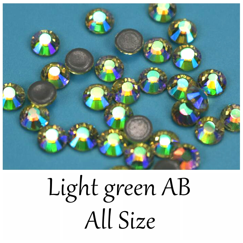 ... Strass Hotfix Stones And Crystals Rhinestone for Clothing. US  6.26.  High Quality Light green AB More Shiny SS3-SS34 Flatback Hotfix Rhinestones  Bling ... 6420c6ce9ac9