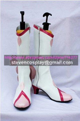 По заказу дешевые довольно лечения Tsubomi Hanasaki косплей сапоги косплей обувь хэллоуин
