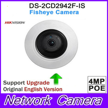 DHL Free shipping Hikvision DS-2CD2942F-IS 4MP POE PTZ View Fisheye CCTV Network Camera Fisheye IP Camera