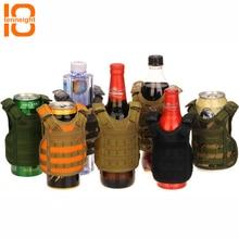 TENNEIGHT Тактический пивной жилет военный Молл жилет Мини Миниатюрный чехол для бутылки вина жилет для напитков кулер регулируемый плечевой ремень