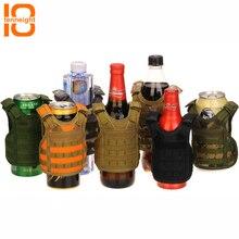TENNEIGHT Тактический пивной военный Молл жилет Мини Миниатюрный винная бутылка крышка жилет охладитель напитков регулируемые плечевые ремни