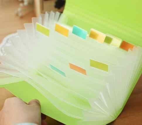 1pc plastikowe cukierki kolor aktówka folder rozszerzenie portfel bill folder mały rozmiar 17.8*11.5*2.5cm