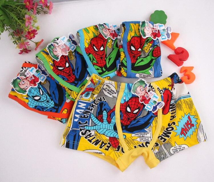 2018 5pcs/lot Boys Mouse Spiderman Cars Cartoon Children Underwear Cotton Pants for Kids Boys Underpants