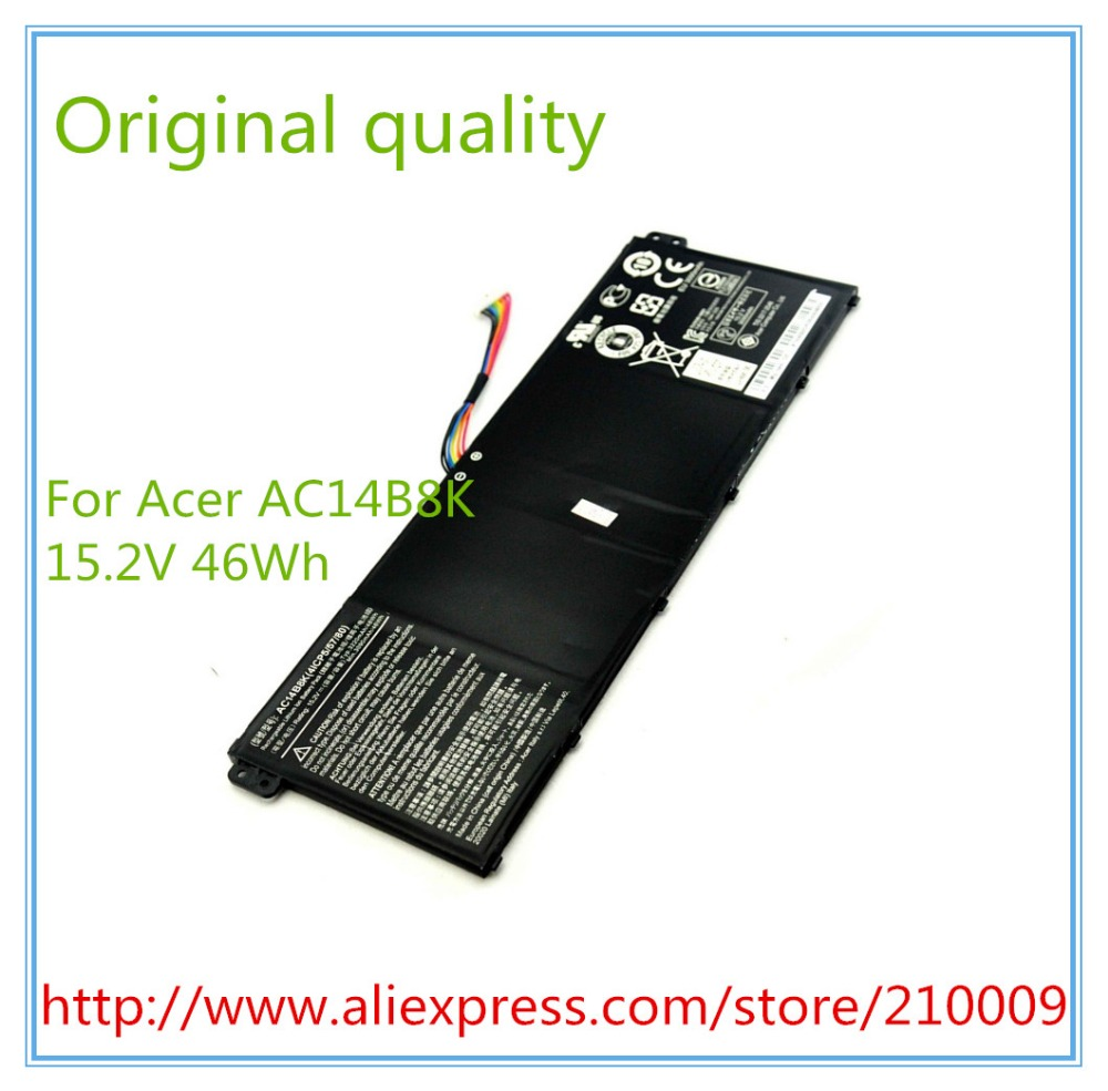 15.2V 3220mAh original laptop battery AC14B8K for E3-111 E3-112 E3-112M ES1-511 AC14B18J Free shipping чехлы для автосидений other brands e3 qq3qq6a1 12 m1x1a1a3