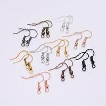 100 pcs/lot 20x17mm bricolage boucles d'oreilles fils boucles d'oreilles crochets pour la fabrication de bijoux résultats accessoires fer crochet Earwire bijoux