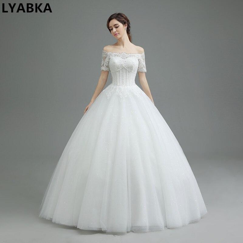 Vintage Hochzeit Kleid Robe De Mariage Scoop Lace up Zurück ...