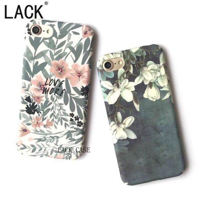 GEBREK Telefoon Gevallen Mode Magnolia bloem bladeren Case Voor iPhone 7 Fundas Voor iPhone 7 6 6 S Plus Pretty Bloemen Cartoon Terug Cover