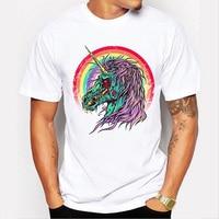 Unicorn T Shirt For Women Short Sleeve Cute Unicorn Dab T Shirt Dabbing Hip Hop Pose