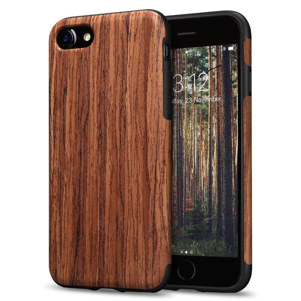 Роскошный Деревянный зернистый Телефон чехол для iPhone 7 8 6 6 S Plus Гибридный Мягкий ТПУ силиконовый тонкий чехол для iPhone X XS MAX XR Coque