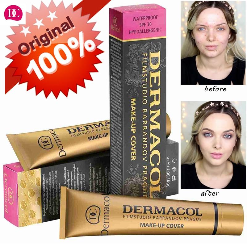 DERMACOL MAKE-UP COVER Waterproof Foundation Primer Legendary Deep Cover Blemish Cream Natural For Face Leg Arm Neck