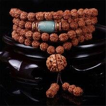 Five Pieces of Meat Veins Bodhi Seeds Original Design 108 Rudraksha Beads Bracelet / Necklace with Shoushan Stone Charm Dropship