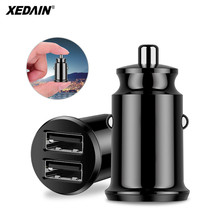 цена на Mini Car Charger For iPhone Samsung Xiaom Huawei 3.1A Fast Car Charging Dual 2 Port USB Car Charger Adapter Mobile Phone Charger